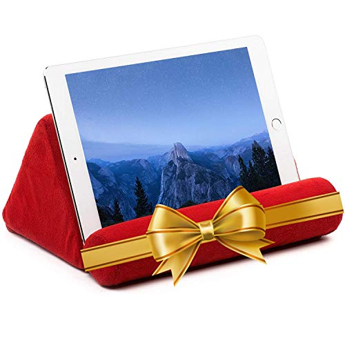 iPad Tablet Stand Pillow Holder - Universal Phone and Tablet Stands and Holders Can Be Used on Bed, Floor, Desk, Lap, Sofa, Couch