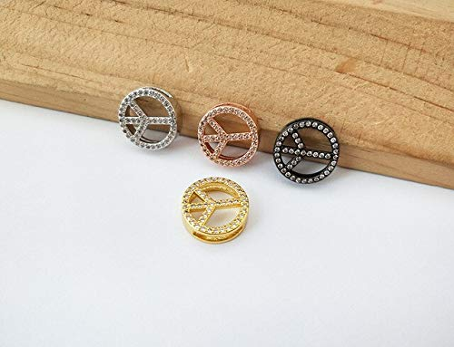 Fashionable Jewelry | Watch Belt Bracelets | Micro Pave Peace Sign Shaped Connector | Charm Adjustable Bangles | for Gift -
