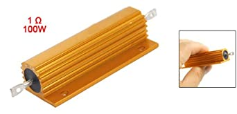Uxcell Electrical Chasis Mounted Aluminum Resistor, 5 , 100W 1 Ohm