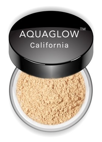Pacific Skin Foundation (AQUAGLOW California Loose Mineral Foundation - Natural and Organic (Made in USA) (Ivory))