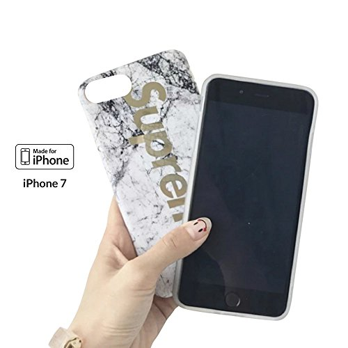 Iphone 7   8   4 7    Protective Durable Slim Fit Tpu Case   Cover   Bumper   Skin   Cushion   Street Fashion X White Marble Gold  White Gold