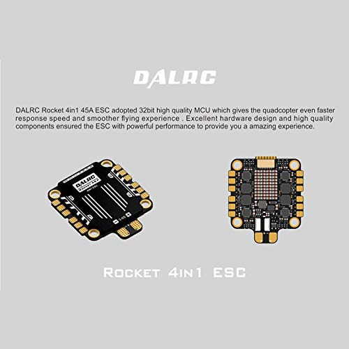 Wikiwand DALRC Rocket 45A 4 in 1 ESC Brushless 3-6S Blheli_32 LIHV DSHOT1200 for Drone