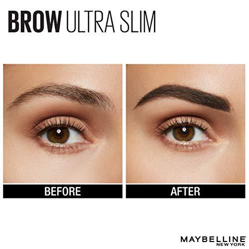 Maybelline New York Brow Ultra Slim Defining Eyebrow Pencil, Deep Brown