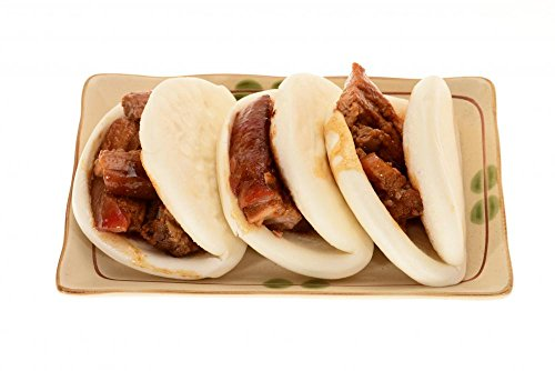 Wallmonkeys Chinese Steamed Bun with Braised Pork Filling Wall Decal Peel and Stick Graphic WM190627 (18 in W x 12 in H)