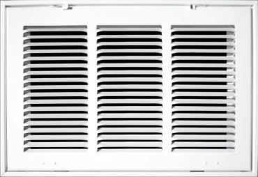 14'' X 20 Steel Return Air Filter Grille for 1'' Filter - Fixed Hinged - ceiling Recommended - HVAC DUCT COVER - Flat Stamped Face - White [Outer Dimensions: 16.5''w X 22.5''h] by HVAC Premium (Image #5)