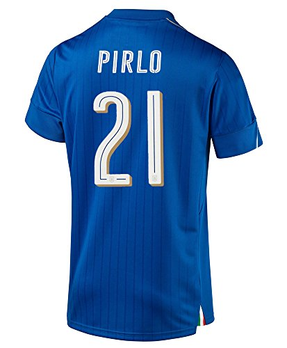 Pirlo #21 Italy Home Soccer Jersey S/S UEFA Euro 2016 (M) -