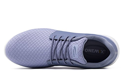 Mesh Upper Leisure Stylish Light Unisex Grey Lace ONEMIX Grey up Athletic Sneakers tqwgZCE