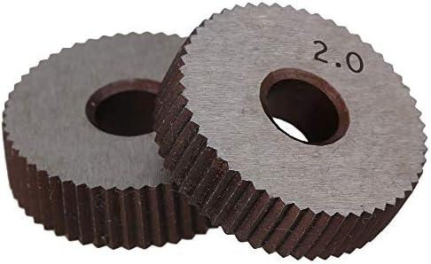 LOYAL TECHNOLOGY-PACKAGE Rändelwerkzeug 2ST 2.0mm Rad Knurl HSS Wälzfräser Straight Grain Rad Knurled Lathe Prägeradabschnitt Werkzeugmaschinen Zubehör Hebt Getriebe