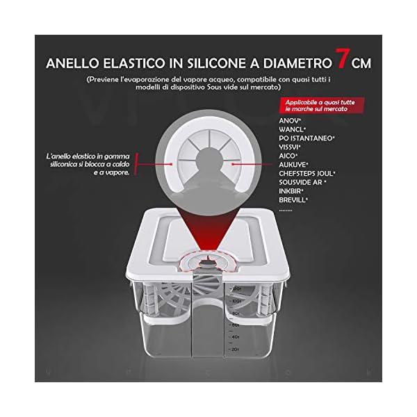 VPCOK 7 in 1 Sous Vide Contenitore Set 12L con Coperchio Roner Cucina Professionale Compatibile Tutte Marche ANOVA, ECC… 2