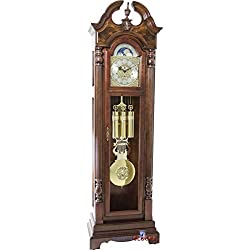Hermle 010993041161 Blakely Grandfather Floor Clock44; Dark Oak