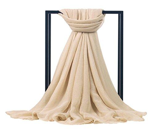 tra Large Chiffon Bikini Beach Pareo Wrap Swimwear Scarf Silk Shawls SW-02 (Ivory) (Ivory Silk Chiffon)