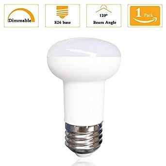 Pack of 1)R14 LED Light 7W E26 Soft White 3000K, Edison Style ...