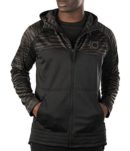 Nike Men's KD Klutch Hyper Elite Full Zip Hoodie Black/Anthracite SZ XL -