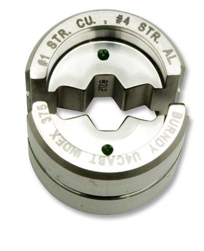 U4Cabt Burndy U Compression Die #4 Awg Aluminum Green 375