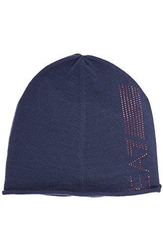 Emporio Armani EA7 women's beanie hat train 7 lines evolution blu US size S 285385 6A731 06935 by Emporio Armani