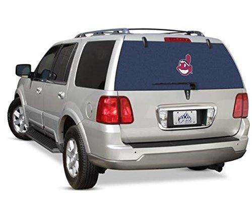 Glass Tatz Cleveland Indians MLB Logo Rearz See Thru Back Windshield Decal