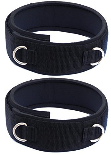Lanyarco 1 Pair Neoprene Padded Thigh Strap Fitness Accessories Ankle Straps Cuff by Lanyarco