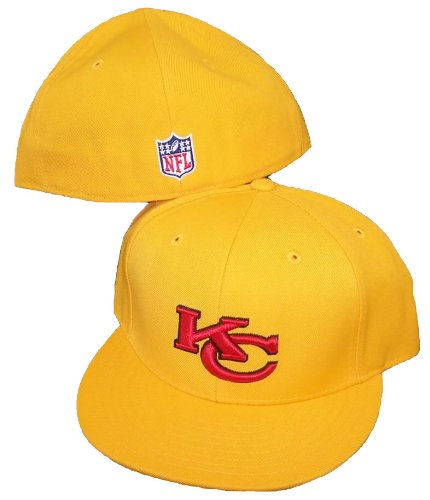 Reebok Embroidered Cap (Kansas City Chiefs NFL Fitted Size 7 1/2 Hat Cap)