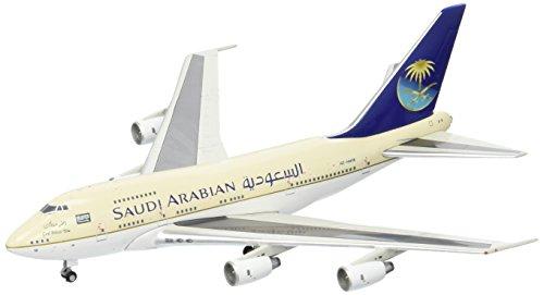 GeminiJets Saudi Arabian Airlines (Saudia) B747SP HZ-H1MB 1:400 Scale Diecast Model Airplane ()