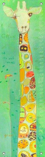 Oopsy Daisy Grow Giraffe Growth Chart by Jennifer - Giraffe Growth Chart Canvas