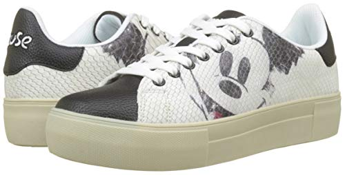 Blanc star Shoes Femme Basses 1000 blanco Desigual Baskets Mickey FYHHq