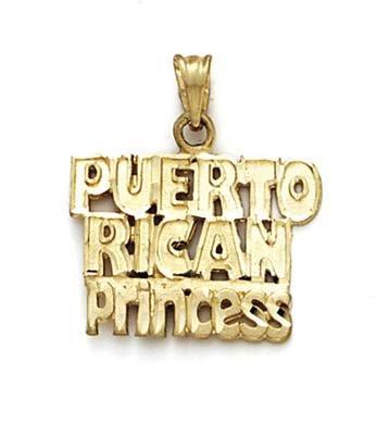 Or 14carats Pendentif Princesse de Porto Rico
