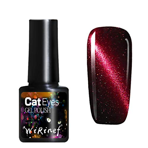 Clearance Sale!DEESEE(TM)Cat Eye Gel Nail Polish Long-Lasting Painless UV LED Gel Polish Semi Permanent (F)