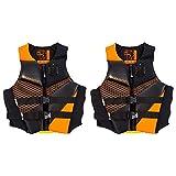 Body Glove Phantom Orange Neoprene Men & Women's Life Jacket Vest, Extra Large (2 Pack)
