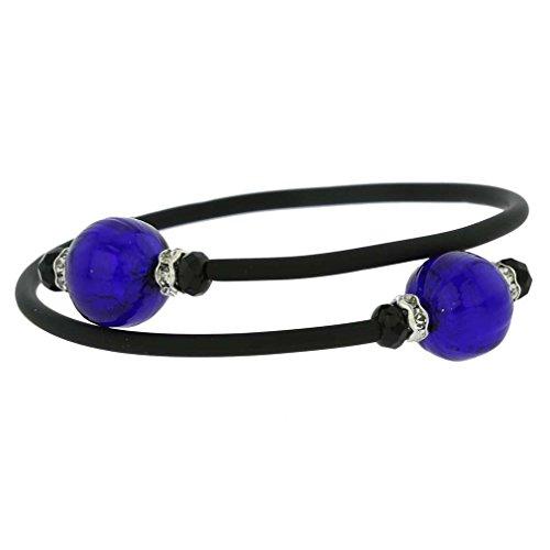 GlassOfVenice Murano Glass Venetian Glamour Bracelet - Navy Blue