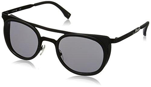 Lacoste Unisex L823S Oval Sunglasses, Black, 51 - Lacoste Sunglasses Unisex