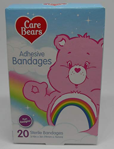 - American Greetings Care Bear Adhesive Bandages - 20 Bandages - 3/4 inch x 3 inches - Fun Care Bear Designs