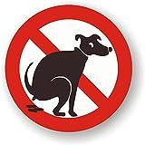Autocollants Chien interdit - Panneau Pas d'excrément, caca, étron, besoin - Lot de 20