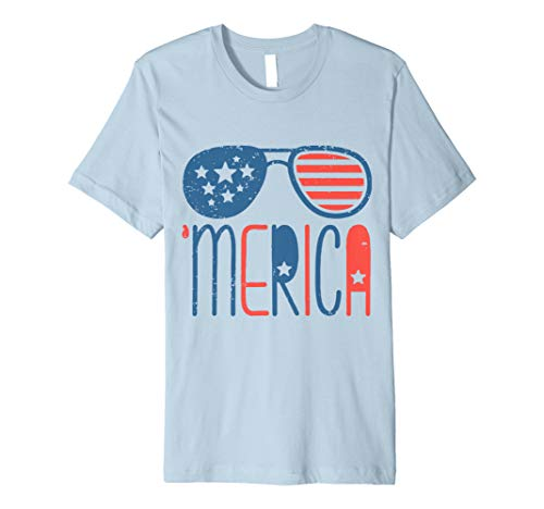 - Merica American Flag Aviators Toddler TShirt 4th July