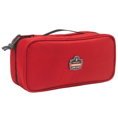 (Ergodyne Arsenal 5875 Clamshell Organizer Zippered Pouches, Large, Red)