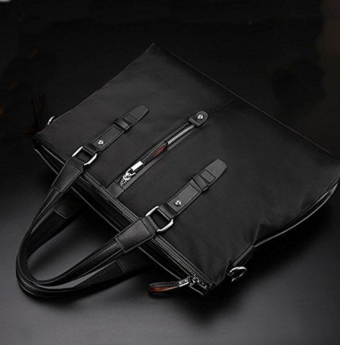 La Ocasionales Black1 Del Bolso De Hombres Cartera La Tela Los Textura Oxford De Manera Handcarry Zpxwn5vq