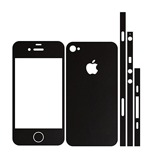 IPHONE 4 SCHWARZ MATT FOLIE SKIN ZUM AUFKLEBEN bumper case cover schutzhülle i phone
