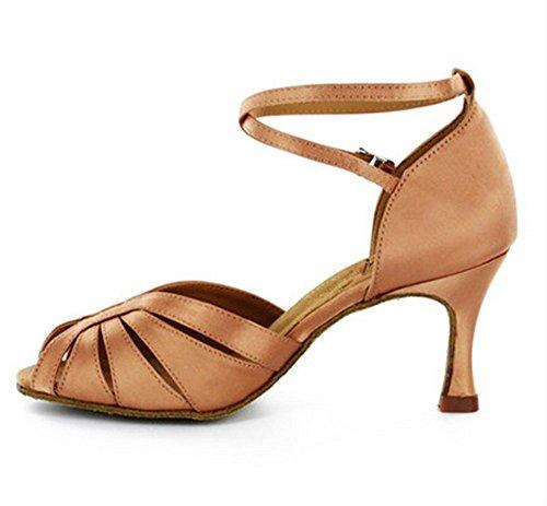 Danza latina femenina que entrena los altos talones / zapatos de la tauromaquia / zapatos modernos de la danza