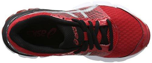 Asics Gel-nimbus 18 Gs - zapatos de entrenamiento de carrera en asfalto Unisex Niños Rosso (True Red/Silver/Black)