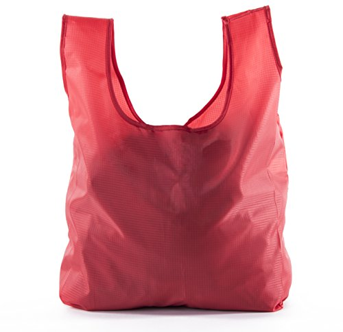 Reusable Grocery Bags | Foldable w/ Integrated String Pouch | Ripstop Nylon Tote by Mato & Hash