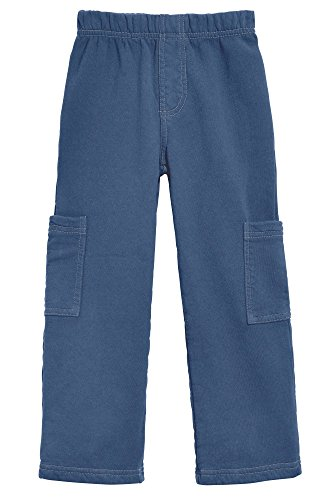 City Threads Big Boys Fleece Cargo Pocket Pants for School Playground and Outdoor Activities, Smurf Blue, 8