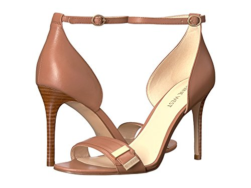 (Nine West Women's Matteo Leather Dress Sandal, Dark Natural, 10 M US)