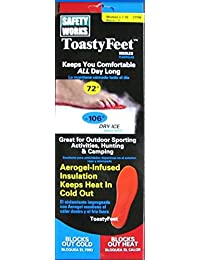 Toasty Feet Shoe Insoles, Size:7-10 Women's, 1 Pair Per Pack