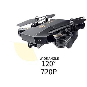 AURELIO TECH RC Foldable Flight Path FPV VR Wi-Fi RC Quadcopter 2.4 GHz 6-Axis Gyro Remote Control Drone with 720P HD, 2MP Camera Drone, Bonus Battery from AURELIO TECH