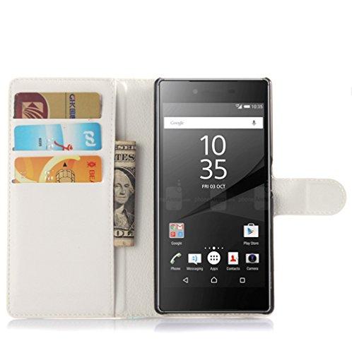 Funda Sony Xperia Z5,Manyip Caja del teléfono del cuero,Protector de Pantalla de Slim Case Estilo Billetera con Ranuras para Tarjetas, Soporte Plegable, Cierre Magnético D