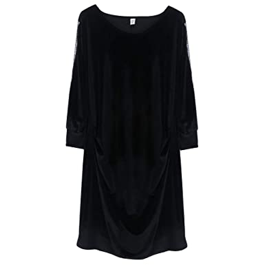 black-velveteen-jumper-long-empire-waist-interracial-double-penitration