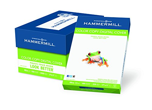 Cover Hammermill Paper Color Copy (Hammermill Paper, Color Copy Digital Cover, 80lb, 17 x 11,100 Bright, 1000 Sheets / 4 Pack Case, (120037C), Made In The USA)