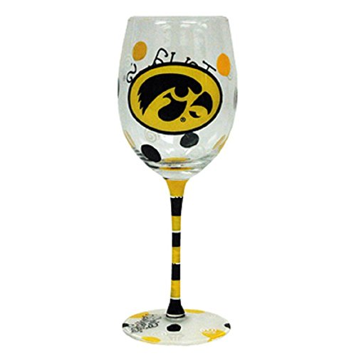 Hawkeyes Black Yellow Painted Glass product image