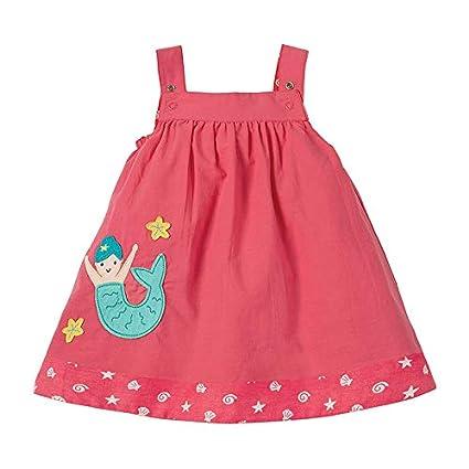 HILEELANG Girl Dress Summer Short Sleeve Casual Cotton Applique Tunic Shirt Dress Party Jumper Sundress