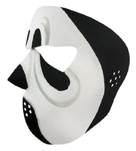 Black Road Phantom Full Face Neoprene Mask Scary Movie Costume Scream Ski Biker by ZIZI SPORTS SUPPLY