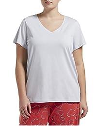 Hue Womens Short Sleeve V-Neck Sleep Tee Pajama Tops